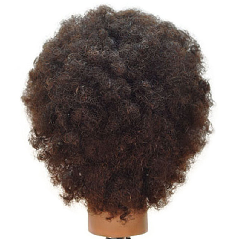 "Image 3 - Jordan 16"" Afro Style Black 100% Human Hair Cosmetology Mannequin Head by Giell at Giell.com"