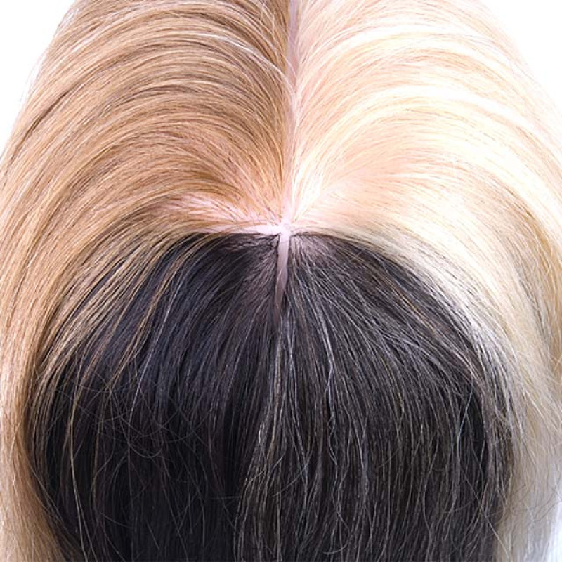 "Image 4 - Color Quad 18"" 100% Human Hair Coloring Cosmetology Mannequin Head by Giell at Giell.com"