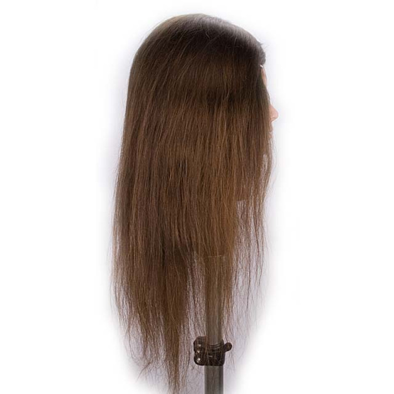 "Image 2 - Jeanine 26"" Natural Hair Growth 100% Human Hair Cosmetology Mannequin Head by Giell at Giell.com"