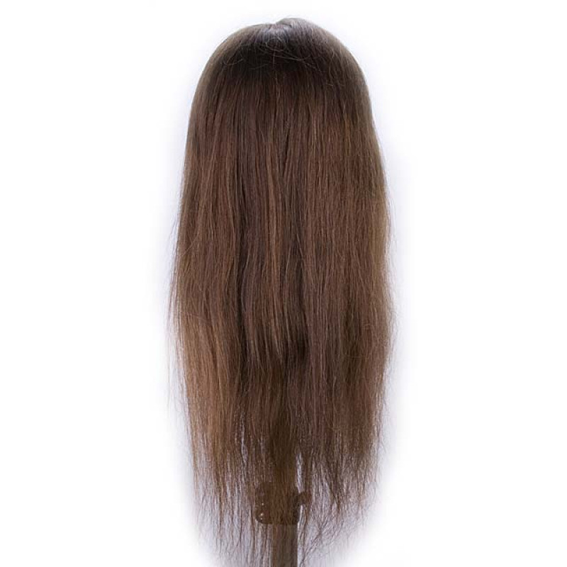 "Image 3 - Jeanine 26"" Natural Hair Growth 100% Human Hair Cosmetology Mannequin Head by Giell at Giell.com"