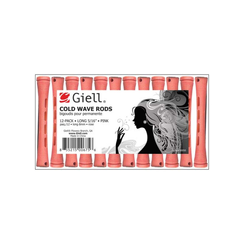 "Image 1 - 5/16"" Pink Long Cold Wave Perm Rods 12-Pack by Giell at Giell.com"