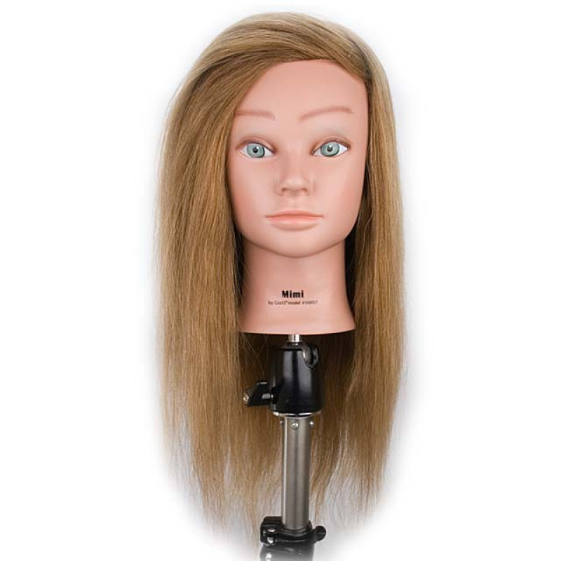 "Image 1 - Mimi 22"" Blonde w/Natural Hair Growth Cosmetology Mannequin Head by Giell"