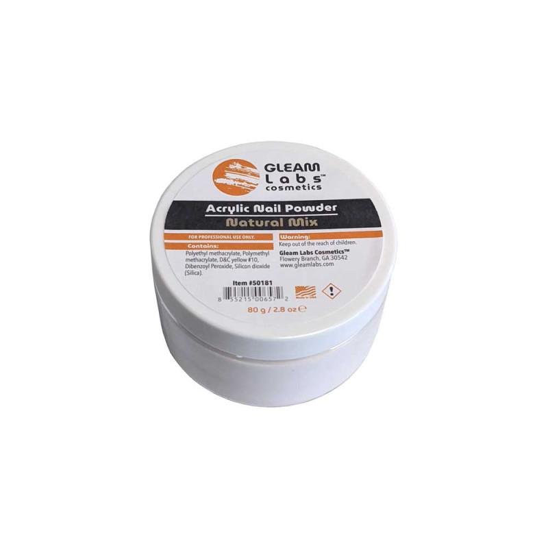Image 1 - 2.8 Oz Natural Mix Acrylic Nail Powder by Gleam Labs at Giell.com
