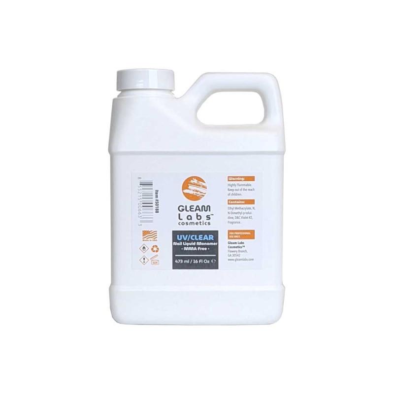 Image 1 - 16 fl oz UV/Clear EMA Acrylic Nail Liquid Monomer by Gleam Labs