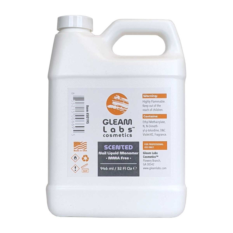 Image 1 - 32 fl oz Scented EMA Acrylic Nail Liquid Monomer by Gleam Labs