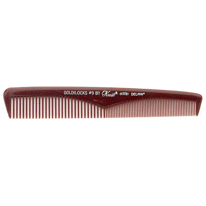 "Image 1 - 7 1/2"" Extra Thin Taper - Clipper Comb Goldilocks G9 by Krest at Giell.com"
