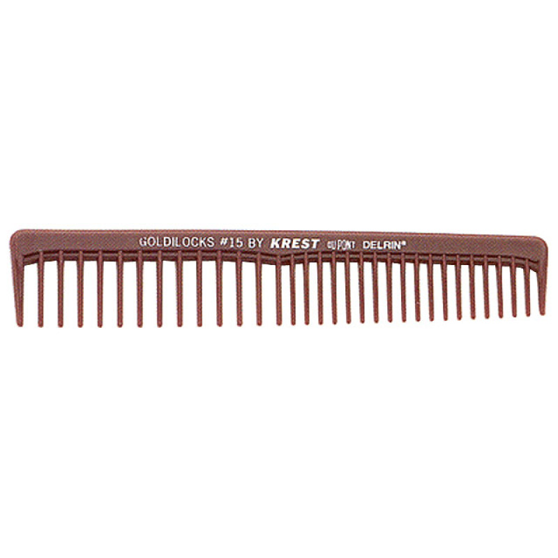 """Image 1 - 6 1/2"""" Space Tooth Finishing Comb Goldilocks G15 by Krest at Giell.com"""