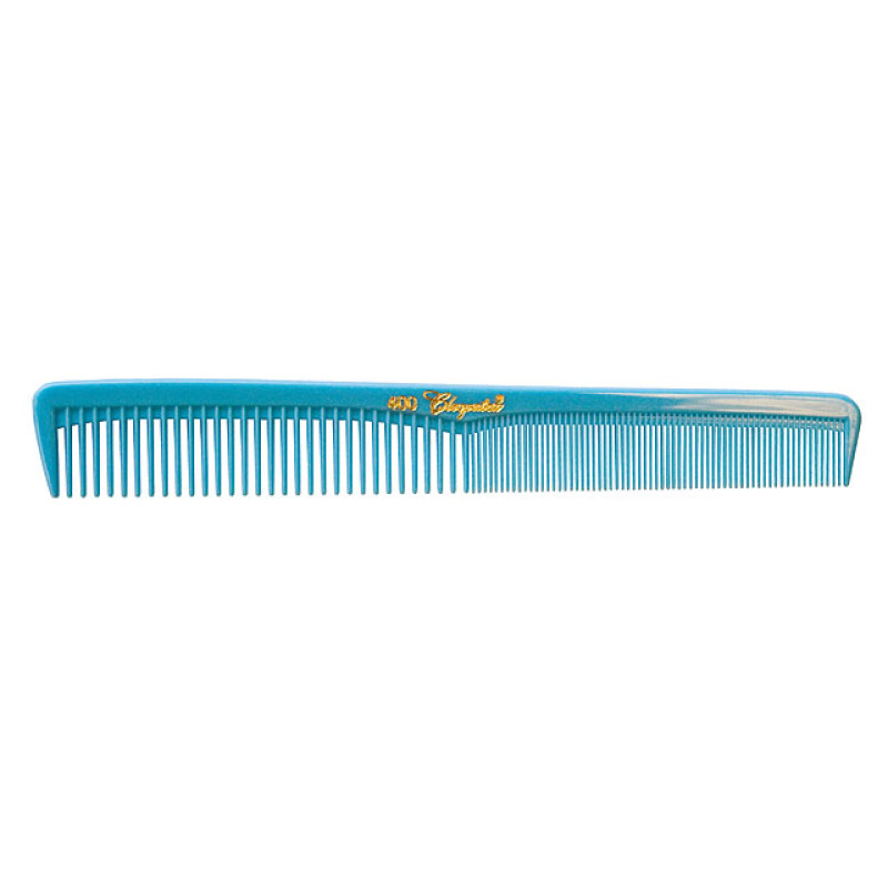 Image 1 - 12 Hair Styling Combs Light Blue with Inch Markers Cleopatra by Krest at Giell