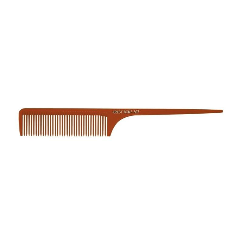 "Image 1 - Krest 9"" Medium-Coarse Teeth Rattail Bone Comb Model 607"