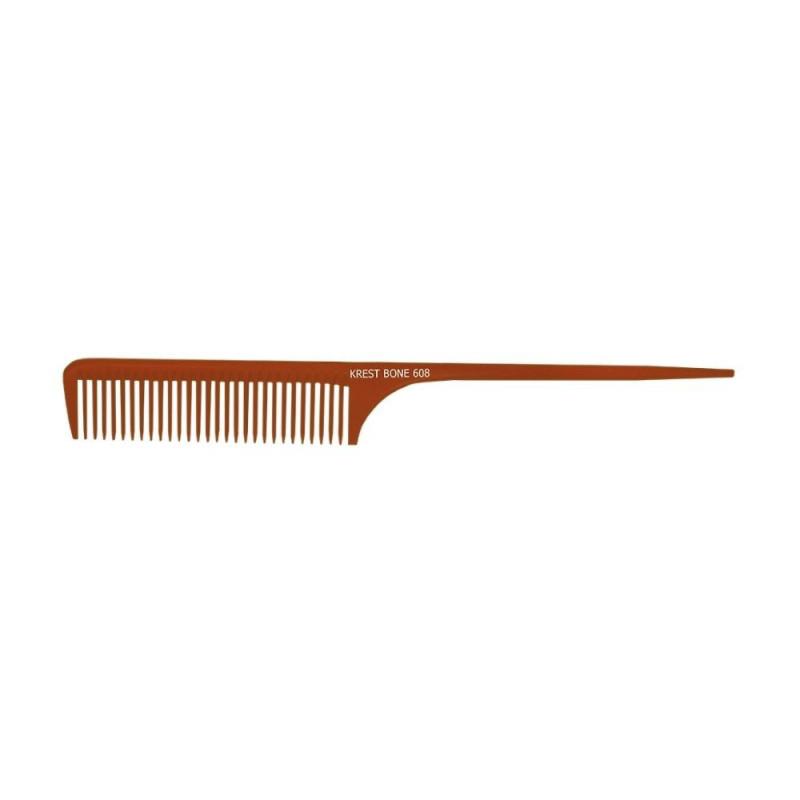 "Image 1 - Krest 10"" Coarse Teeth Rattail Bone Comb Model 608"
