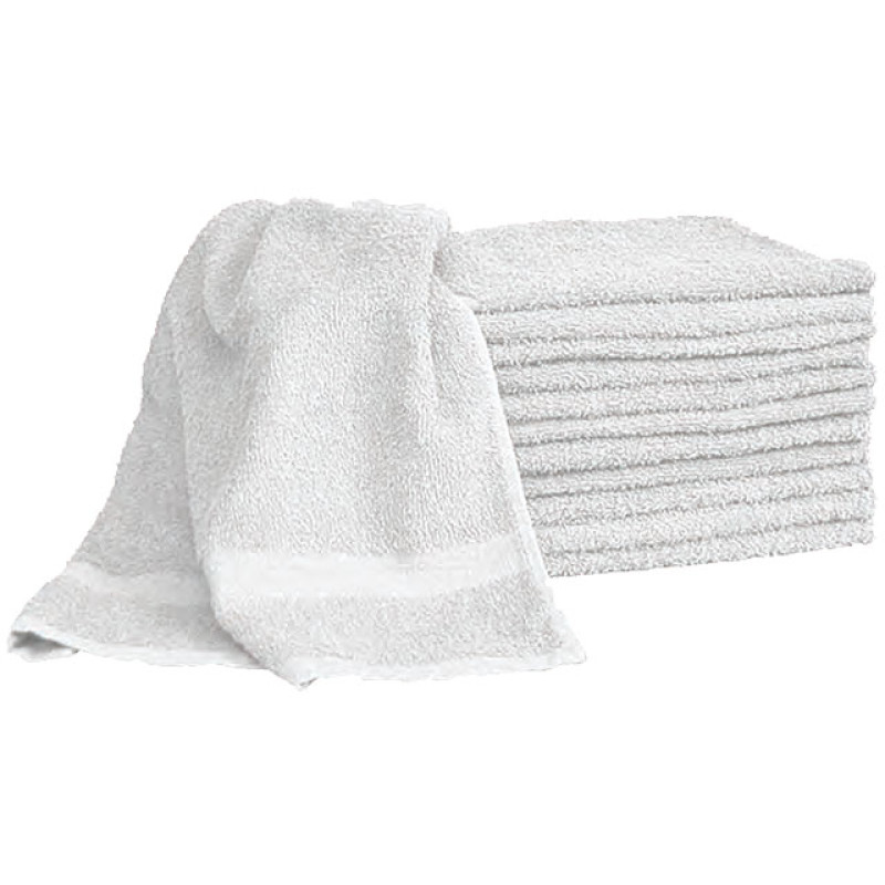 Image 1 - 12 Economy Salon Towels 15 X 25 100% Cotton White 2.25 lbs at Giell.com