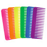 """Image 1 - 36 pcs 6 1/4"""" Fluff Combs Assorted Neon Colors by Aristocrat at Giell.com"""