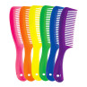 "Image 1 - 36 pcs 8.5"" Rake Combs Assorted Neon Colors by Aristocrat at Giell.com"