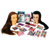 Image 1 - 2-Doll Hair Updo Styling Kit for Children / Youth with Mannequin Heads by Giell at Giell.com